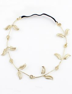 Fashion Gold Leaves Hair Accessories-SheIn