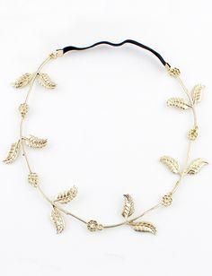 Fashion Gold Leaves Hair Accessories 6.93