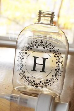 Monogrammed Hand Soap/Sanitizer | 10 Presents for Christmas Under 10.00 To Make by Tip Junkie