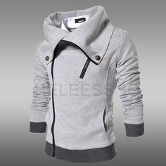 Aliexpress.com: Comprar Tamaño M XXL cremalleras coreanas gruesa ocasional de hombre camisetas y sudaderas con capucha de manga larga hombres negro sudadera envío gratis de oído sudadera fiable proveedores en Boutique De SunSeed