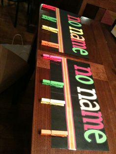 Two no name boards for my classroom.  This is a great idea for middle school! I laminated one, but I did not the other.  I think I like the 2nd one better.