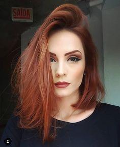 Long Bob Haircuts, Auburn Hair, Red Hair Color, Ginger Hair, Ginger Makeup, Pretty Hairstyles, Medium Hairstyles, Hair Lengths, Hair Trends