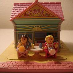 Polly Pocket - 1993 Beach Cafe Playset aka Polly's Beach Holiday - Tiny World or Pollyville