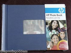 Great for Organizing Art Projects in One Place! HP PHOTO BOOK 5x7 blue software windows photo paper glossy holds 25 sheets NEW #bragbook #photostorage #scrapbooking