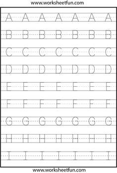 Letter Tracing - 3 Worksheets