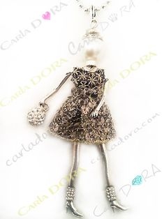 collier fantaisie charms poupee sautoir fashion cotte de With robe de cocktail combiné avec bijoux charms argent
