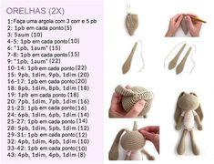 Mesmerizing Crochet an Amigurumi Rabbit Ideas. Lovely Crochet an Amigurumi Rabbit Ideas. Mini Amigurumi, Crochet Amigurumi, Amigurumi Patterns, Diy Crochet, Crochet Dolls, Crochet Bunny Pattern, Crochet Patterns, Crochet Animals, Handicraft
