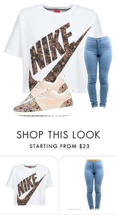 """""""~Nike~"""" by queennailah ❤ liked on Polyvore featuring NIKE"""