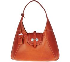 """""""As Is"""" Dooney & Bourke Florentine Toscana Front Stich Hobo Bag - Page 1 — QVC.com"""