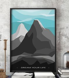 Painting Mountains Wall Art on Canvas Dream your Life by imielsky