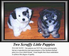 Two Scruffy Little Puppies, Animal Counted Cross Stitch Pattern, Kit and Downloads, #pinterestcrossstitch #pinterestgifts