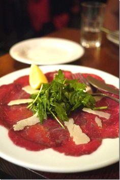 Beef carpaccio - also try Alton Brown's version   http://www.foodnetwork.com/recipes/alton-brown/beef-carpaccio-recipe/index.html