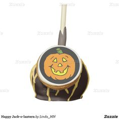 Happy Jack-o-lantern Cake Pops
