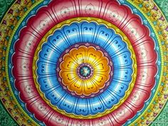 Colorful Temple Ceiling, India