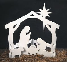 Small Silent Night Wood Pattern Half The Beauty Of This Popular Self Standing Nativity