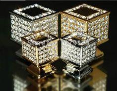 fashion deluxe glass diamond furniture decotation handles k9 crystal wine cabinet drawer knob golden silver dresser square pull #Affiliate