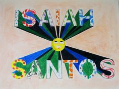 One point perspective .. middle school.. we used letter stencils, color pencils and color pencil shavings for the background for a soft background look