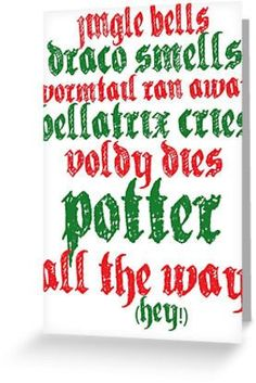 "This catchy carol card. | 17 Holiday Cards Every ""Harry Potter"" Fan Wants To Receive"