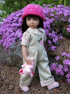 """~MORE PINK STRAWBERRIES!~by Tuula fits 13"""" Effner Little Darling to a """"t""""!"""