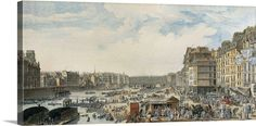 """Bring the city to you with classic cityscape wall art like """"The Wheat Port"""" by Louis-Nicolas de Lespinasse. available at GreatBIGCanvas.com."""