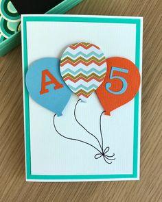 Ilmapallo onnittelukortti / Balloon birthday card for a five year old Balloon Birthday, Birthday Cards, Quotes, Bday Cards, Quotations, Birthday Greetings, Qoutes, Anniversary Cards, Manager Quotes