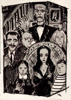 """The Addams Family by Denis Medri """