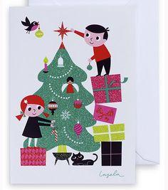 Christmas. Looks like me and Tom! :)