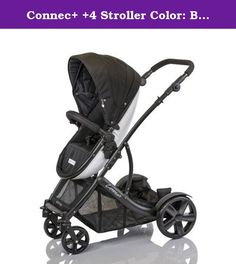 Connec+ +4 Stroller Color: Black. G+GC4BLACK Color: Black Features: -Product Type:Standard strollers -Color:Beige -Color:Black -Color:Blue -Color:Multi-Colored -Color:Purple -Color:Red -Distressed:No. Dimensions: -Overall Width - Side to Side:26 -Overall Depth - Front to Back:36 -Overall Product Weight:29.