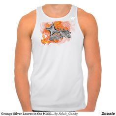Grunge Silver Leaves in the Middle of Flames Shirt