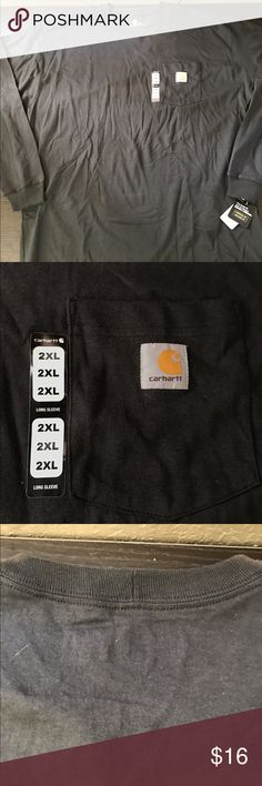 Carhartt K126-BLK Men's LS Workwear Pocket T-Shirt Carhartt K126-BLK Men's LS Workwear Pocket T-Shirt Black- This K126-BLK Carhartt Men's Long Sleeve Workwear Pocket T-Shirt is made of 100% Cotton with the famous Carhartt logo on the front pocket. * 6.75-Ounce, 100% Cotton Jersey Knit * Rib-Knit Crewneck and Cuffs * Side-Seamed Construction Minimizes Twisting * Left-Chest Pocket with Sewn-On Carhartt Label * Tagless Neck Label Carhartt Shirts Tees - Long Sleeve