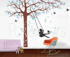 Tree Wall Decals Kids Playroom Decor Girls Decal by PopDecors, $88.00