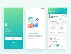 Kaya : Wallet App Wallet App is made with love for details and fast workflow. #Paid, #Kaya, #SPONSORED, #Wallet, #App App Ui Design, Mobile App Design, Interface Design, Design Art, Mobile Wallet App, Mobile App Ui, App Form, App Design Inspiration, Managing Your Money