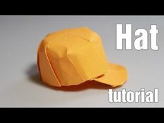 어떻게 종이 접기 모자를 만드는 - 종이 접기 스냅 백 (Henry Phạm) - YouTube