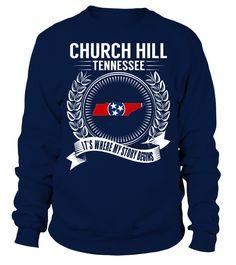Church Hill, Tennessee Its Where My Story Begins T-Shirt #ChurchHill