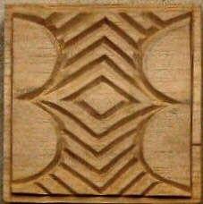 Oshiwa Carved Wood Printing Stamp, Tribal Design,  /// TAFA Market, Brown Collection: http://www.tafaforum.com/market/tafa-market-colors/