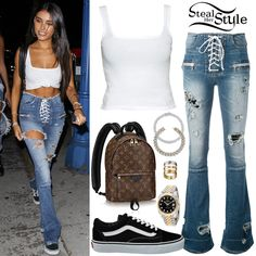 Find out where your favorite celebrities buy their clothes and how you can get their looks for less. White Outfits, Cool Outfits, Summer Outfits, Fashion Outfits, Amazing Outfits, Fashion Clothes, Style Fashion, Fashion Ideas, Casual Outfits