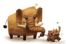 Mammoth Doodle by Cryptid-Creations.deviantart.com on @deviantART