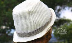 Patrón gratis gorro fedora a crochet Ganchillo Para Hombres ba456d2b7d0