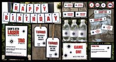 Laser Tag Party Printables