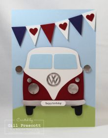 Volkswagen vintage car vanners card