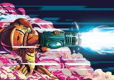 An older piece of fanart because I LOVE Samus and the Metroid series so very much Metroid Samus, Metroid Prime, Samus Aran, Comics Illustration, Illustrations, Nintendo, Super Metroid, Fanart, Space Pirate
