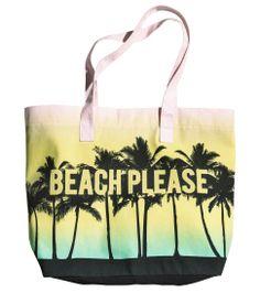 Designed with a 'Beach Please' slogan, this waterproof bikini bag ...