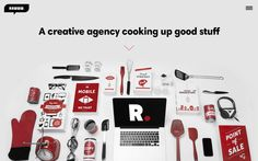Good combination of bold and slab typography: Rawww #website #design