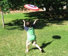 Flying Captain America Shield-tutorial