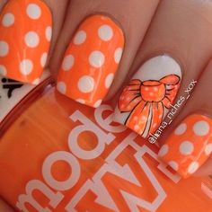 Cool Summer nails 2016 images for your pleasure. Holiday Nail Designs, Best Nail Art Designs, Holiday Nails, Bright Orange Nails, Bright Summer Nails, Orange Color, Tennessee Nails, Tennessee Game, Trendy Nails