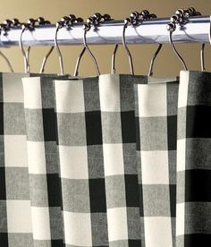 Make a bold statement with this timeless large-scale check that can work alone at your windows, or delightfully accent other styles. USA Made at our own factory. (Country Curtains Buffalo Check Shower Curtain)