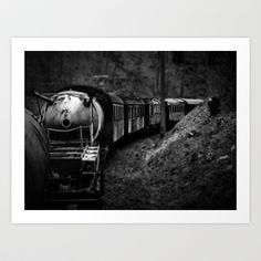 Spooky Train Art Print by Rainer Steinke - $22.88 Train railway railrod ghost eisenbahn geisterzug zug horror #Train #railway #railrod #ghost #eisenbahn #geisterzug #zug #horror