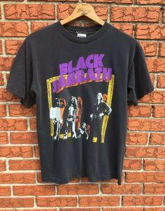 93051bc3 (eBay Sponsored) Vintage Black Sabbath Tour T Shirt Band T Shirt Men's Sz L  Ozzy Osbourne USA. Shirts