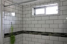 Subway tile in a shower. A frat house shower. True story (from LA Times)