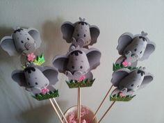 6 foam ELEPHANT centerpieces party decorations. $9.00, via Etsy.